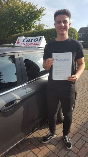 Happy pupil driving lessons in st. neots
